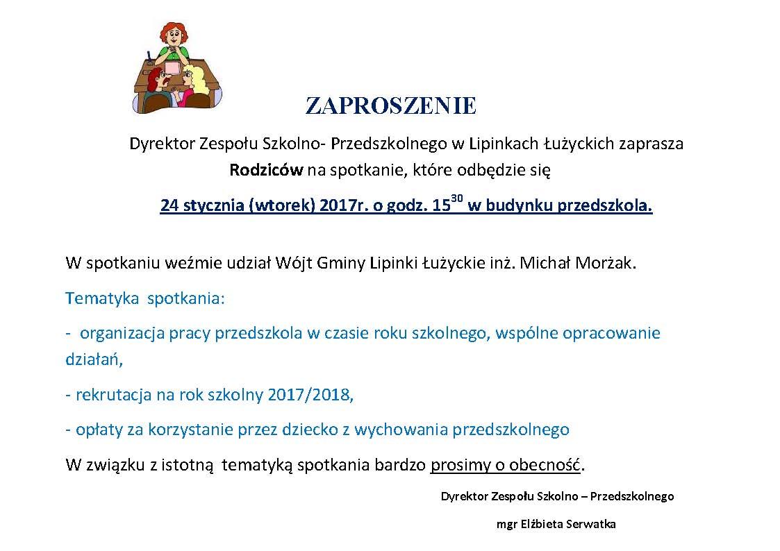 Zaproszenie Na Zebranie Aktualności Gmina Lipinki łużyckie